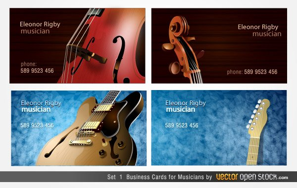 Musician Business Card Examples Luxury Musicians Business Cards Designs Download Free Vector Art