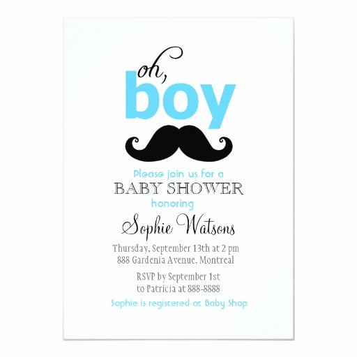 Mustache Baby Shower Invitations Templates Beautiful Blue It S A Boy Mustache Baby Shower Invitations