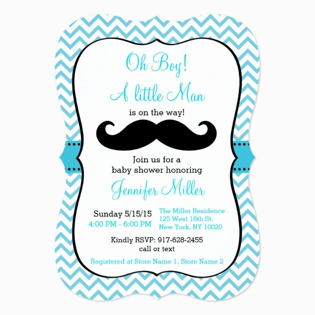 Mustache Baby Shower Invitations Templates Fresh Custom Mustache Baby Shower Invitation Invites Templates