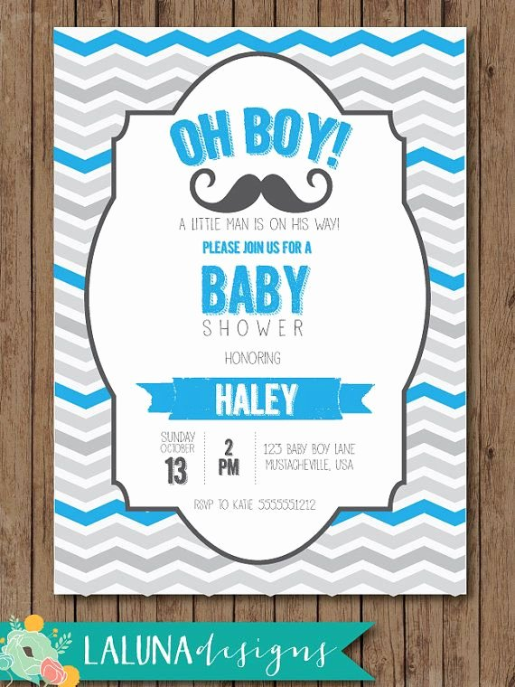 Mustache Baby Shower Invitations Templates Fresh Mustache Baby Shower Invitation Mustache Baby Shower Little Man Baby Shower Invite Chevron