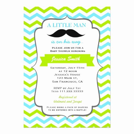 Mustache Baby Shower Invitations Templates Lovely Mustache Baby Shower Invitation