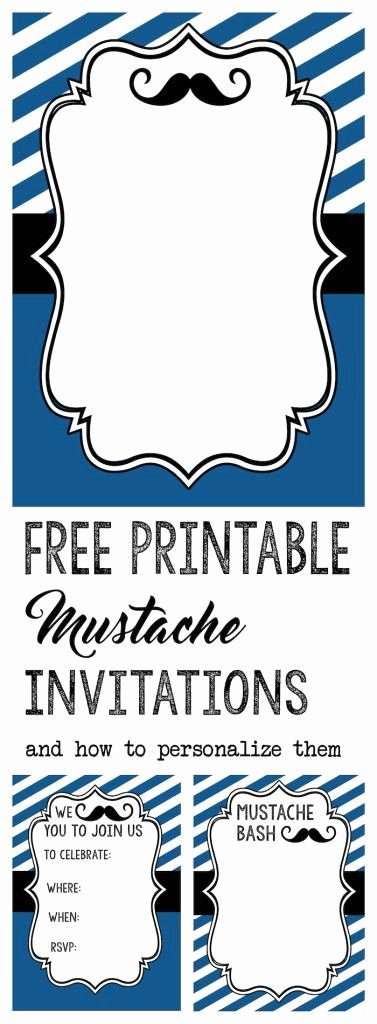 Mustache Baby Shower Invitations Templates Lovely Mustache Party Baby Shower or Birthday Invite Kids Birthday Party Ideas