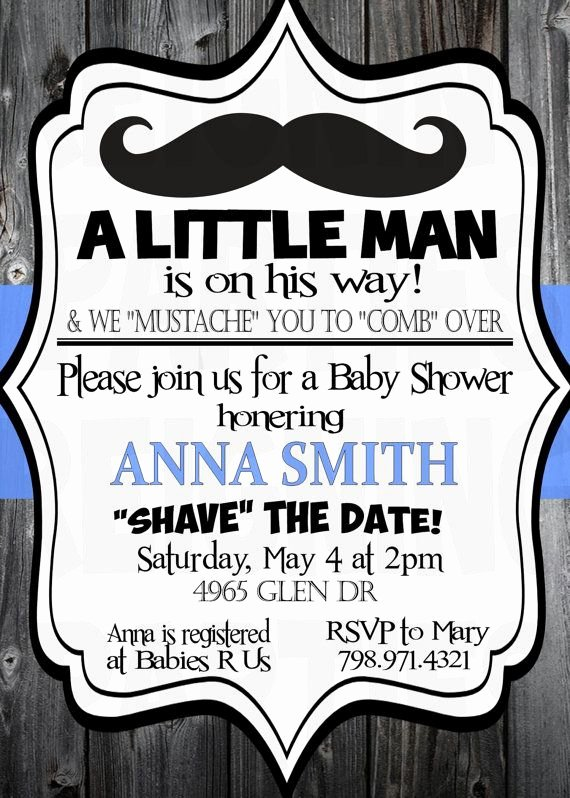 Mustache Baby Shower Invitations Templates Luxury Little Mister Mustache Baby Shower Invitation Little Man Digital Invitation Mustache Bash