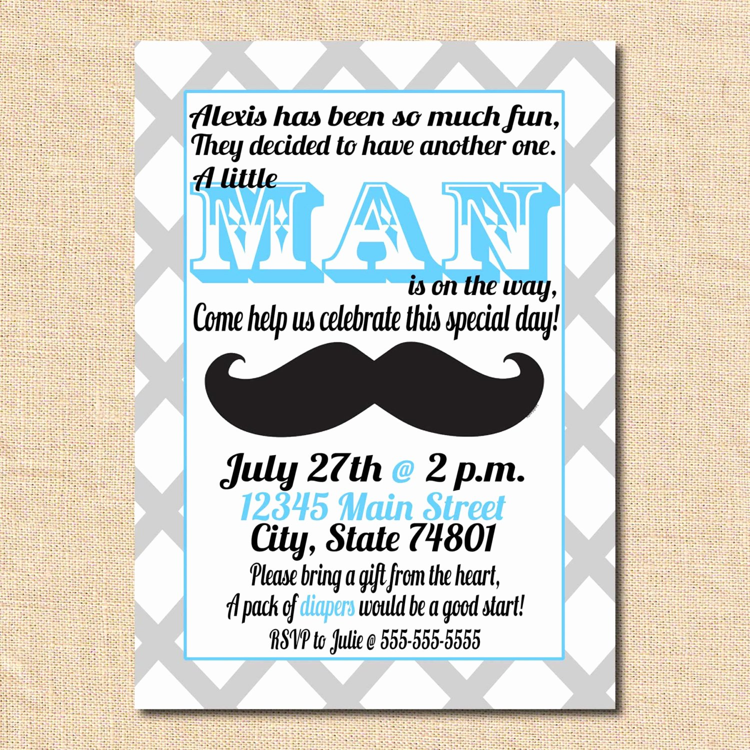 Mustache Baby Shower Invitations Templates Luxury Mustache Baby Shower Invitations Image
