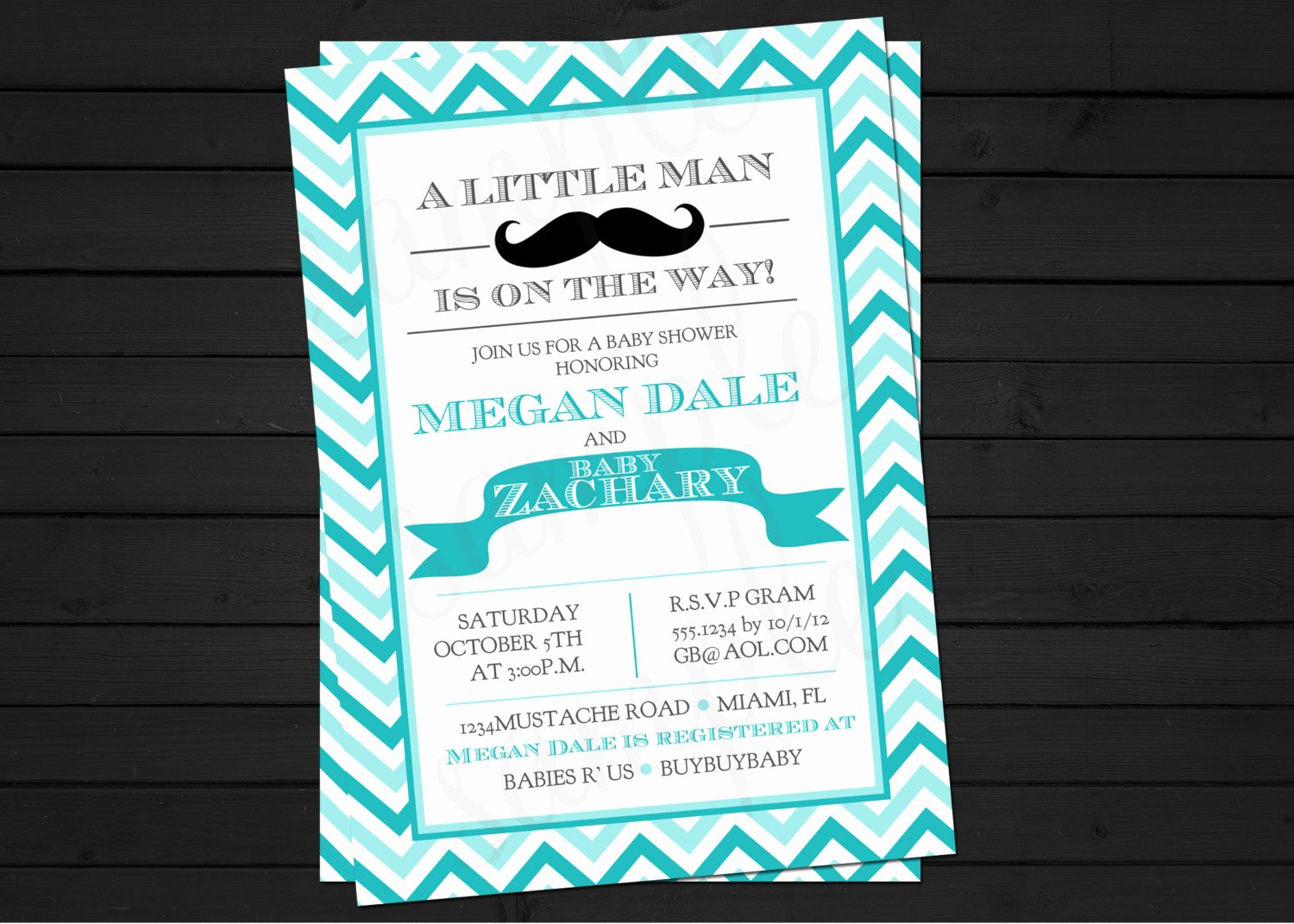 Mustache Baby Shower Invitations Templates New A New Little Man Mustache Bash Birthday or Baby by Shestutucutebtq