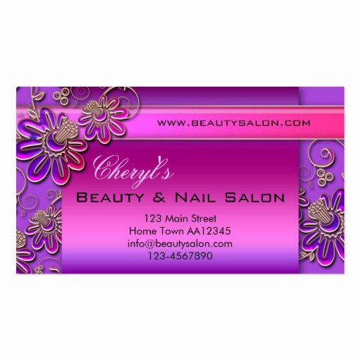 Nail Salon Business Card Beautiful Beauty & Nail Salon Appointment Business Card