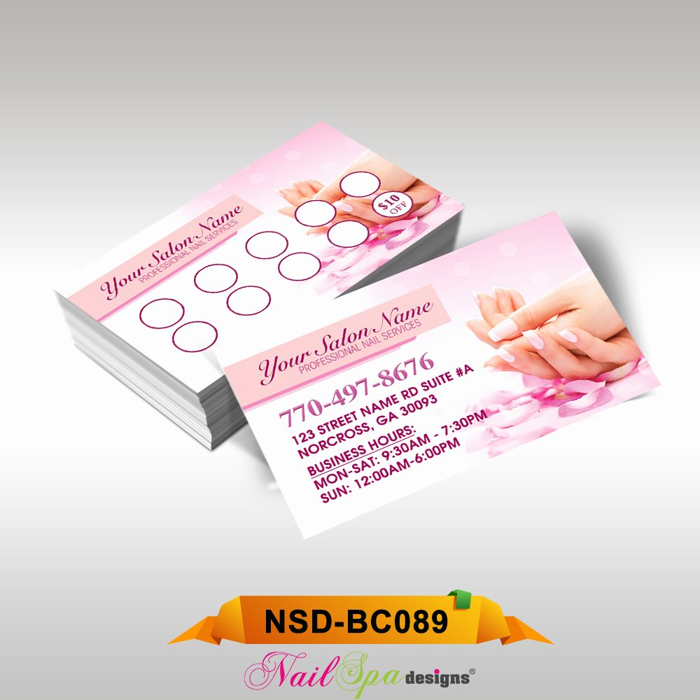 Nail Salon Business Card Beautiful Nail Spa Business Card Bc089 911prints 24hr Printing & Marketing Services