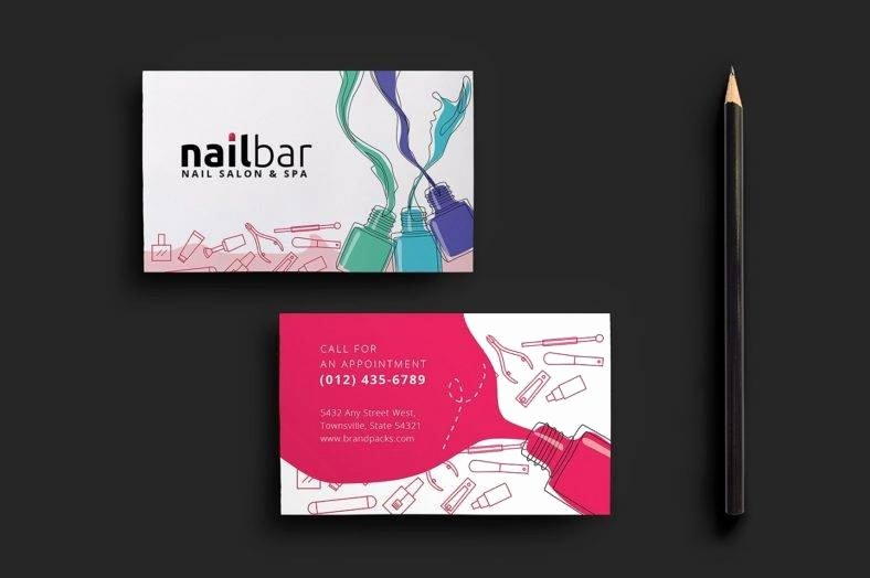 Nail Salon Business Card Best Of 15 Beauty Business Card Templates Psd Ai Word