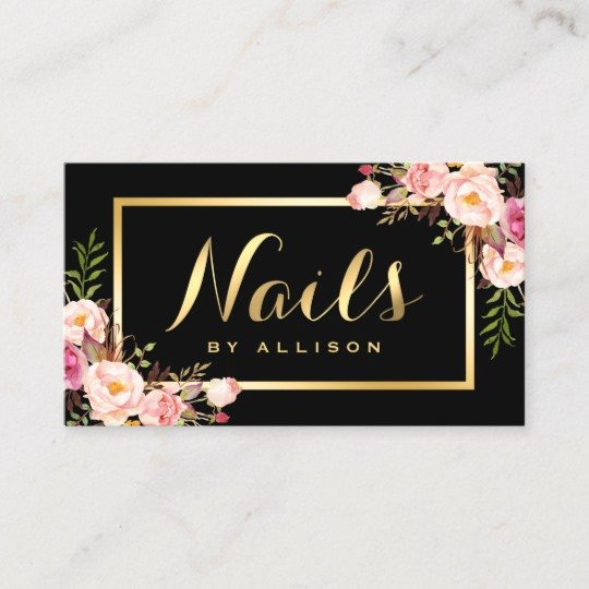 Nail Salon Business Card Best Of Business Cards for Nail Technicians