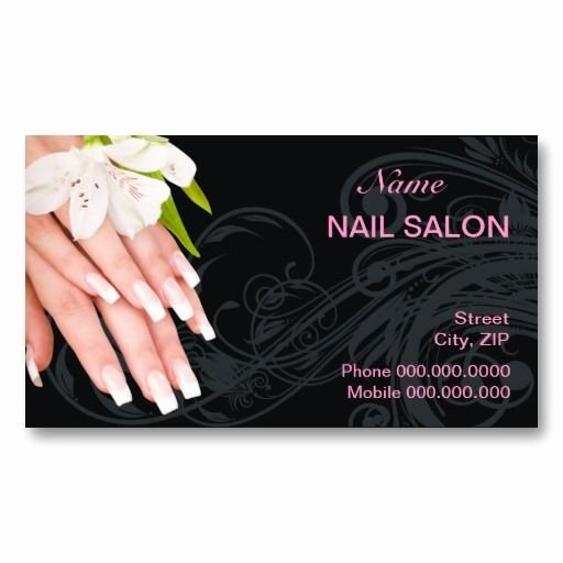 Nail Salon Business Card Elegant 62 Best Images About Customized Nail Salon Business Cards On Pinterest