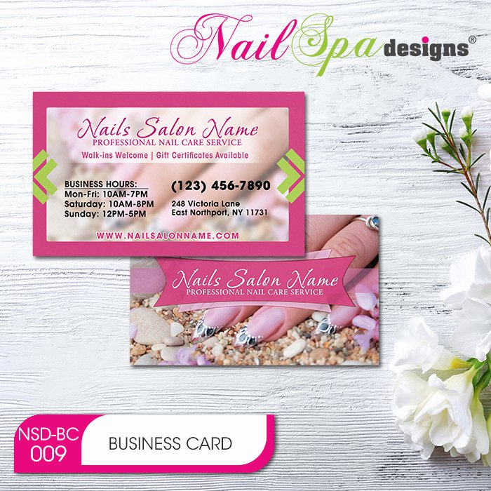 Nail Salon Business Card Elegant Nail Spa Business Card Bc009 911prints 24hr Printing & Marketing Services