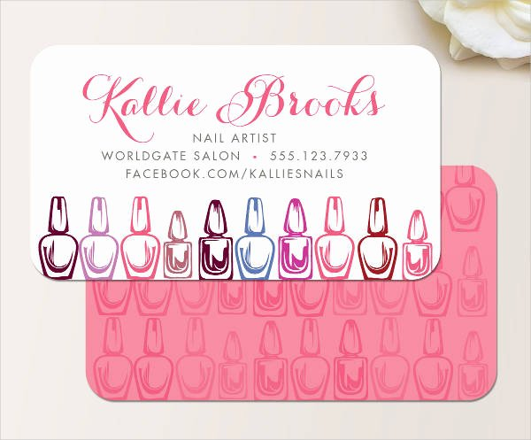 Nail Salon Business Card Elegant Nail Technician Business Cards Designs