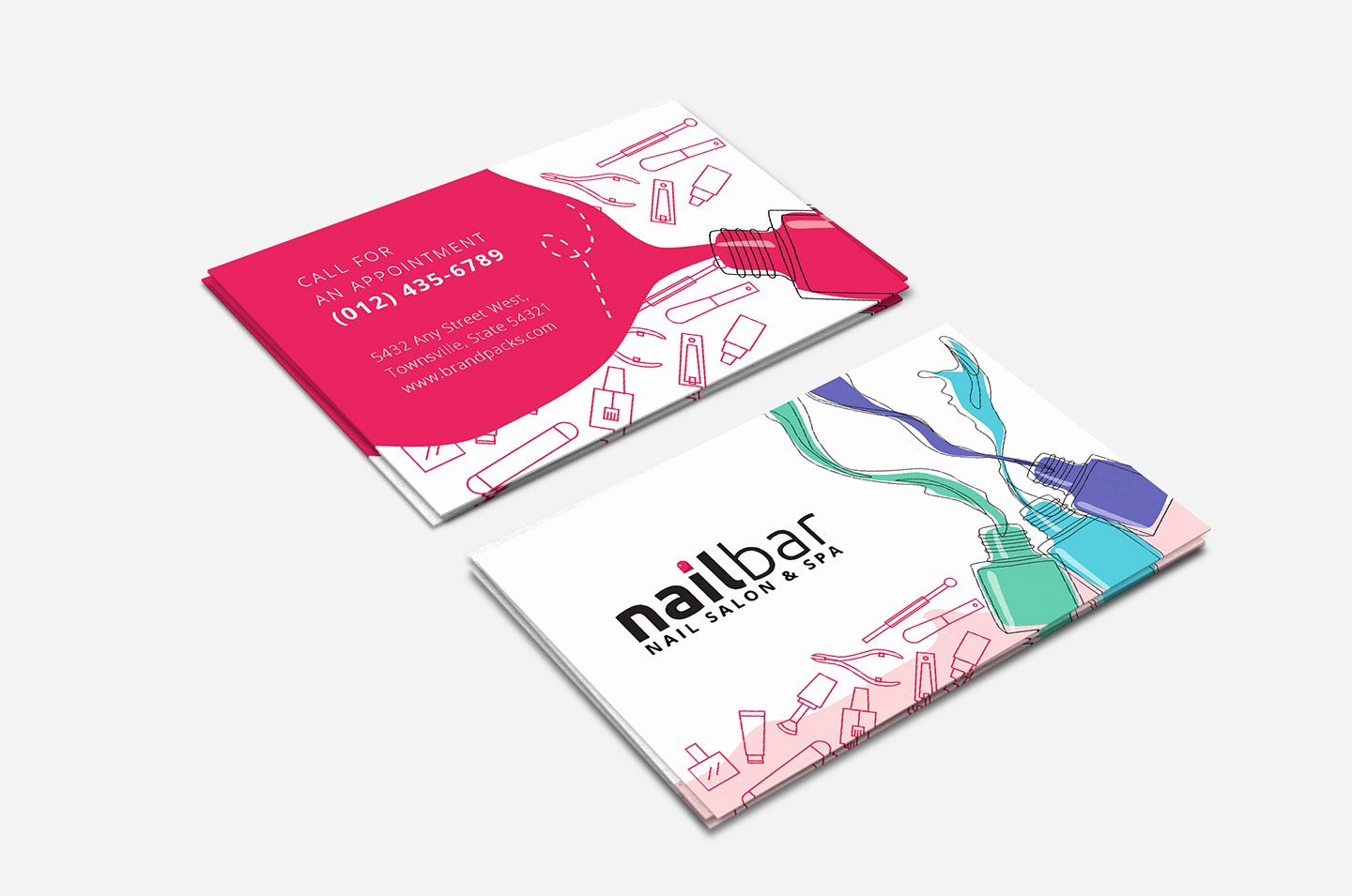 Nail Salon Business Card Fresh Nail Salon Business Card Template In Psd Ai & Vector Brandpacks