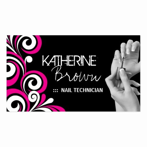Nail Salon Business Card Fresh Stylish Nail Salon Business Card Template