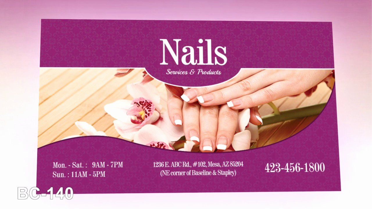 Nail Salon Business Card Inspirational Business Card Nails Salon Vietnamese Salon Printing
