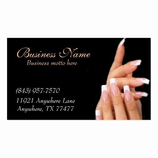 Nail Salon Business Card Lovely Custom Black Nail Salon Business Cards