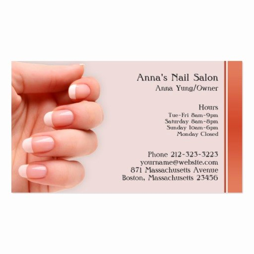 Nail Salon Business Card Lovely Nail Salon Business Card W Appointment