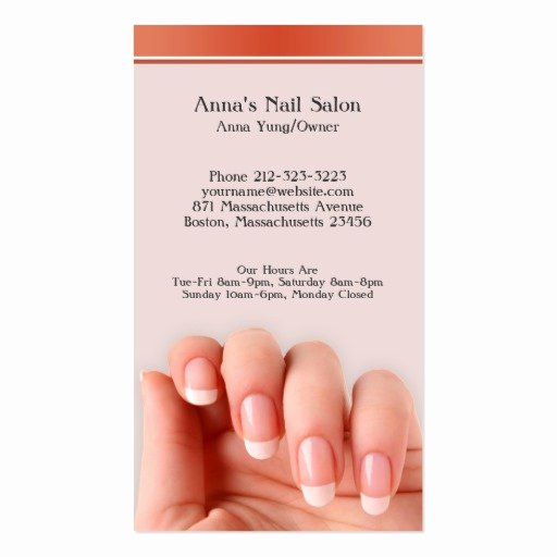 Nail Salon Business Card Lovely Nail Salon W Appointment Business Card