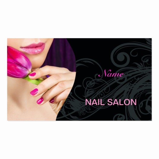 Nail Salon Business Card Luxury Nail Salon Business Card