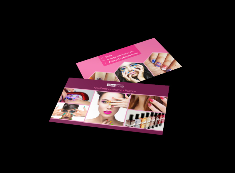 Nail Salon Business Card New Nail Salon Business Card Template