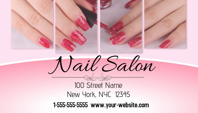 Nail Salon Business Card Unique Nail Salon Business Card Template