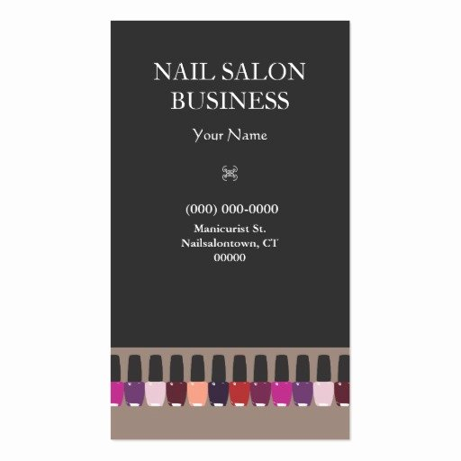 Nail Salon Business Cards Inspirational Nail Salon Business Card