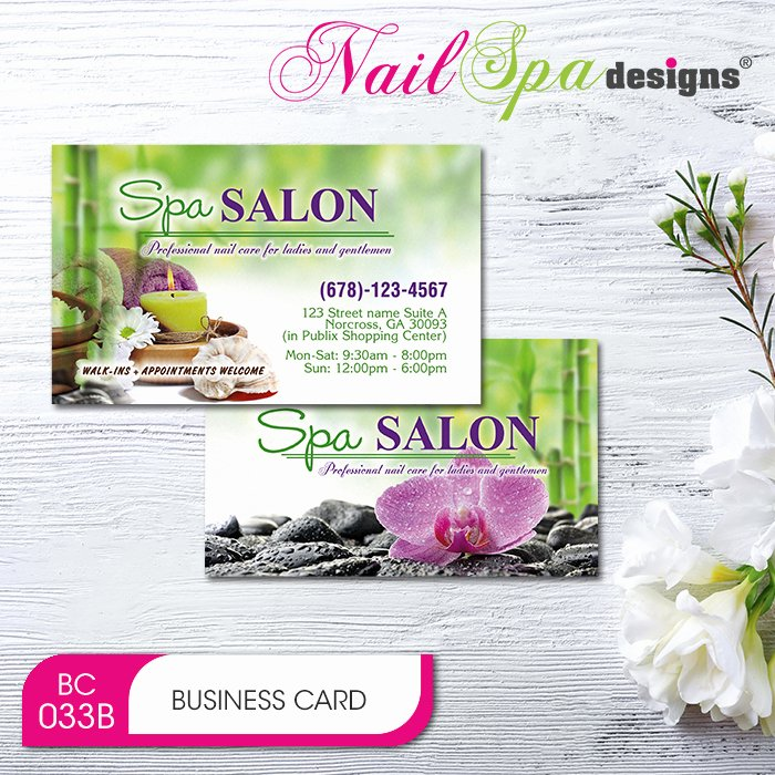 Nail Salon Business Cards Lovely Nail Spa Business Card Bc096 911prints 24hr Printing & Marketing Services
