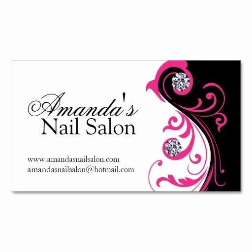 Nail Salon Business Cards Lovely Stylish Nail Salon Business Cards Zazzle Nail Technician Business Cards