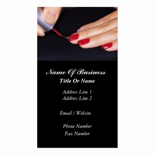 Nail Salon Business Cards Luxury Nail Salon Business Card