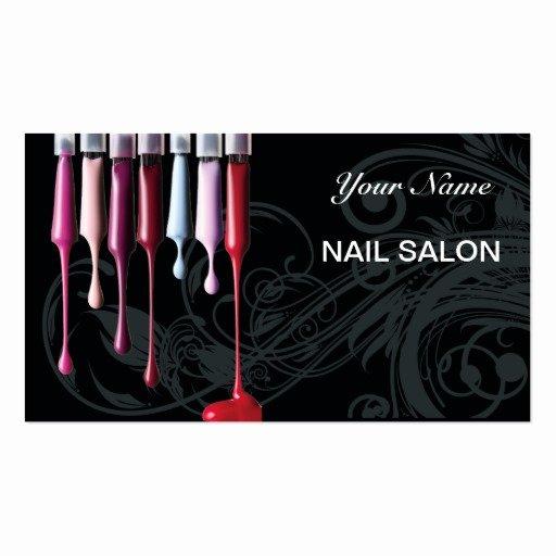 Nail Salon Business Cards Unique Nail Salon Business Card