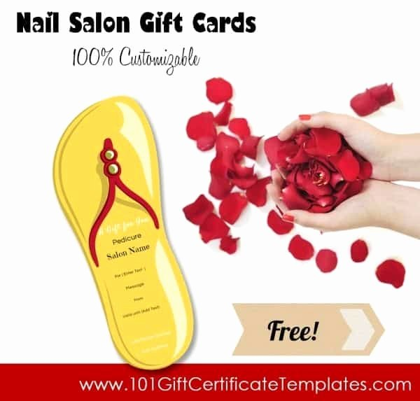 Nail Salon Gift Certificate Template Lovely Nail Salon Gift Certificates Free Nail Salon Gift