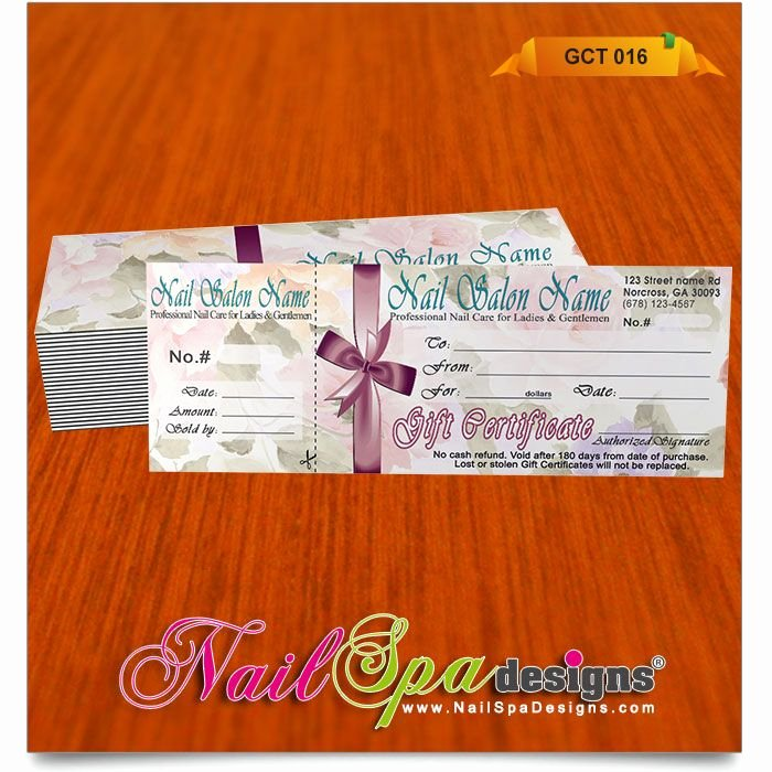 Nail Salon Gift Certificate Template Luxury Gift Certificate Template for Nail Salon Visit
