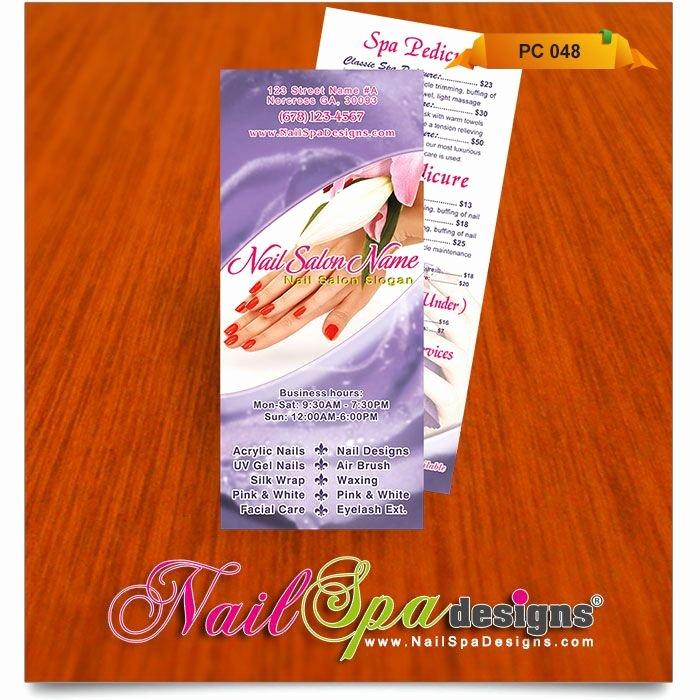 Nail Salon Price List Template Elegant Price List Template for Nail Salon Visit Catalog for More Nail Spa