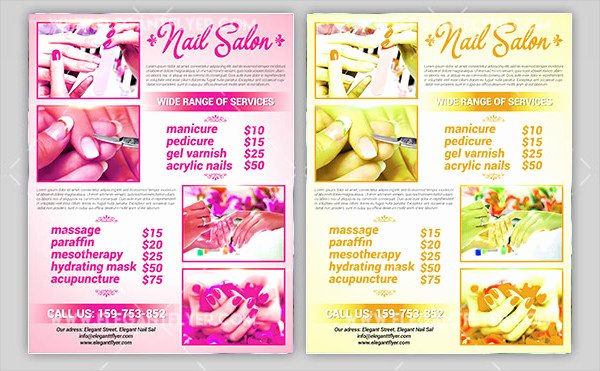 Nail Salon Price List Template Fresh 13 Nail Salon Flyer Templates Free & Premium Download