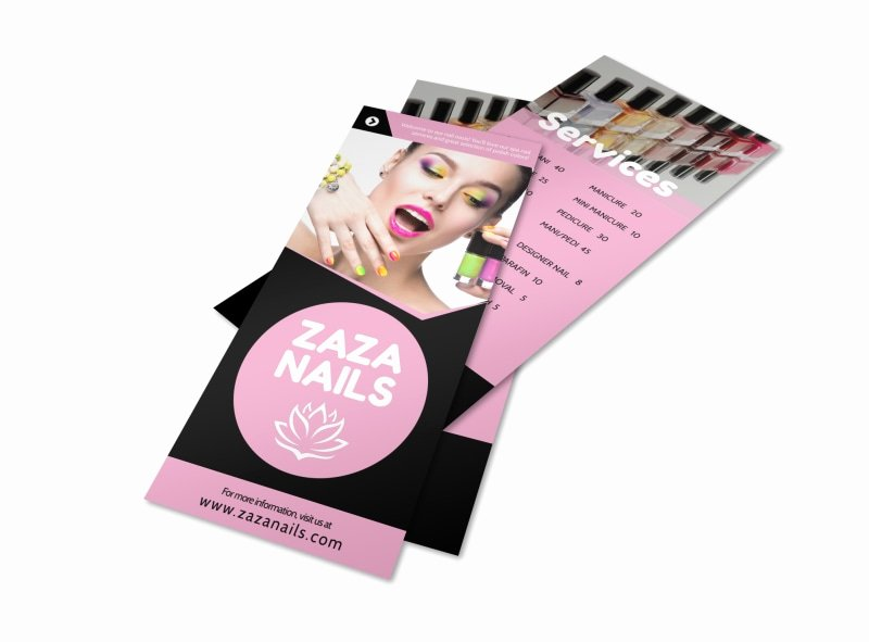 Nail Salon Price List Template Lovely Nail Salon Price List Flyer Template