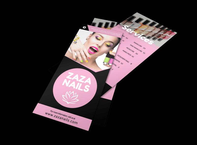 Nail Salon Price List Template New Nail Salon Price List Flyer Template