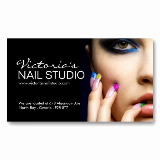 Nail Tech Business Cards Awesome Paper