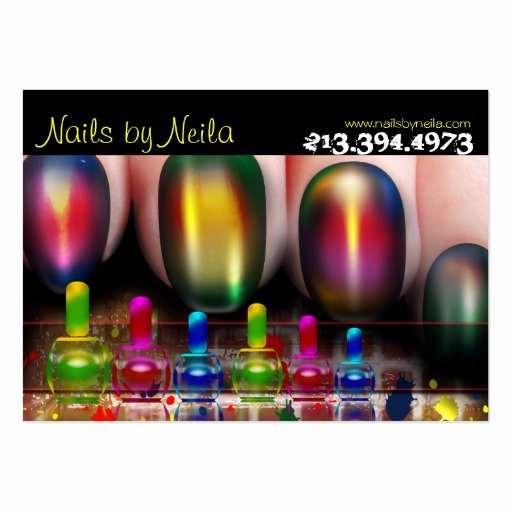 Nail Tech Business Cards Best Of Nail Tech Nail Artist Nail Salon Business Card