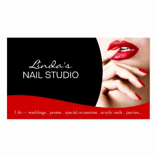 Nail Tech Business Cards Elegant Nail Technician Business Card Template