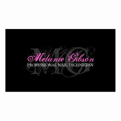 Nail Tech Business Cards Fresh Nail Technician Business Card