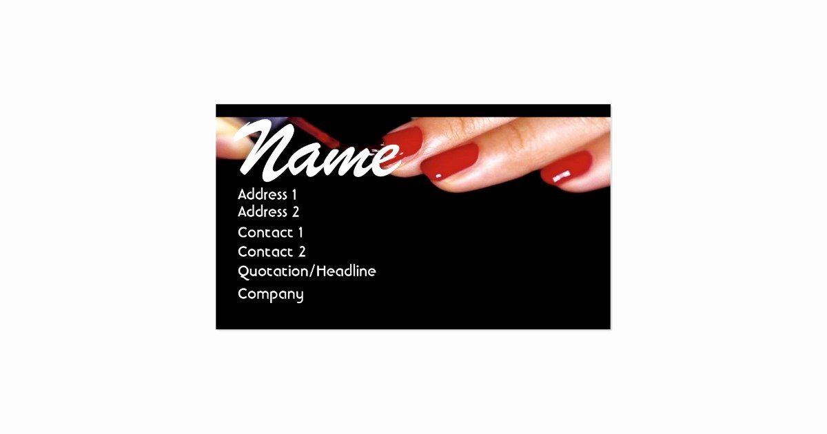 Nail Tech Business Cards Inspirational Nail Technician Business Card