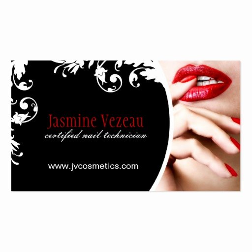 Nail Tech Business Cards Lovely Nail Technician Business Cards