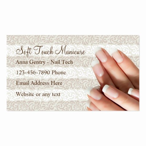 Nail Tech Business Cards New Manicure Nail Tech Business Cards