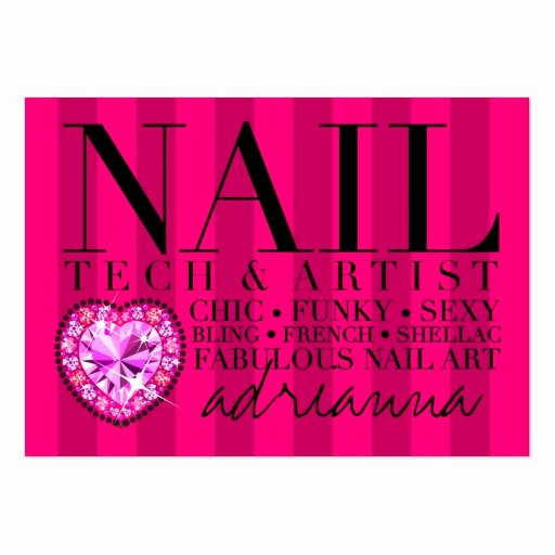 Nail Tech Business Cards Unique 311 Tres Chic Pink Stripes Nail Tech Business Card