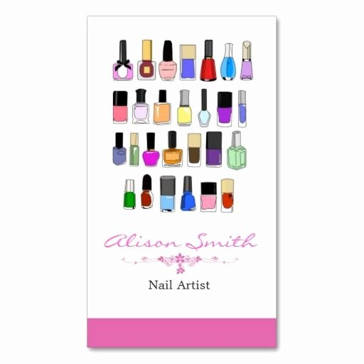 Nails Business Cards Design Beautiful Nail Artist Business Card Zazzle Nail Technician Business Cards