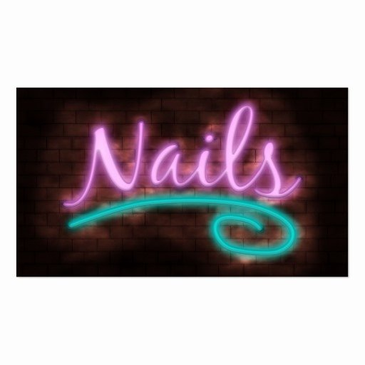 Nails Business Cards Design Best Of Neon Nails Technician Business Card Template