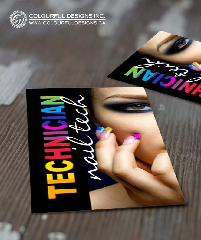 Nails Business Cards Design Fresh Bold Nail Technician Business Card