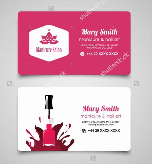 Nails Business Cards Design Fresh Nails Salon Business Card