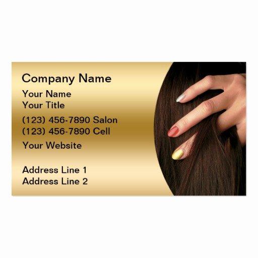 Nails Business Cards Design Inspirational Hair Nail Salon Business Cards
