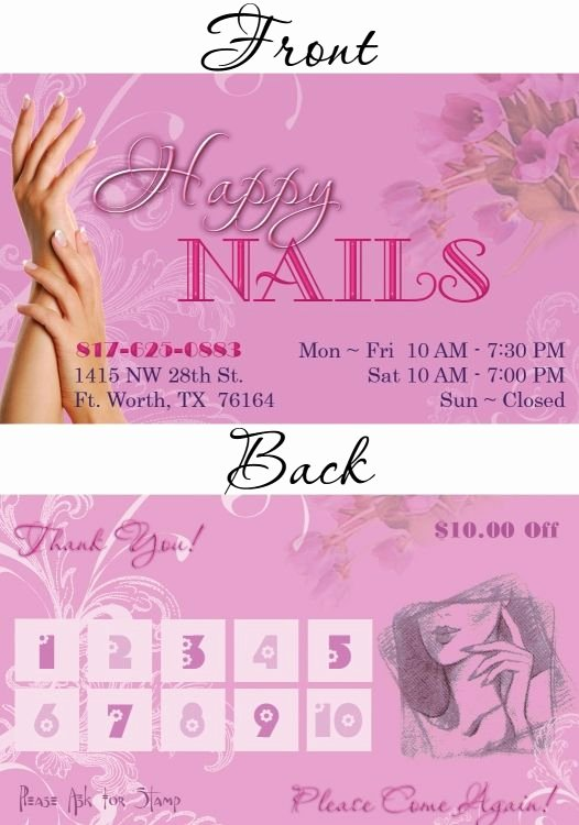 Nails Business Cards Design Lovely Nails Business Cards Design Uñas Pinterest